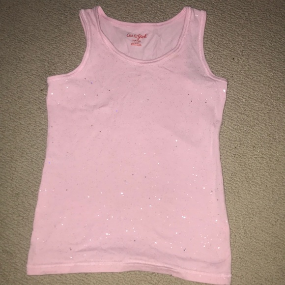 Light pink sparkly tank top for girls